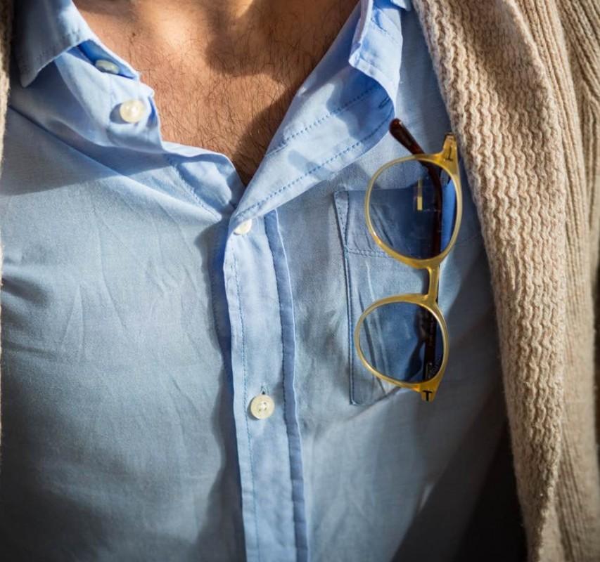 Sonnenbrille aus der Ray-Ban Kollektion in der Brusttasche
