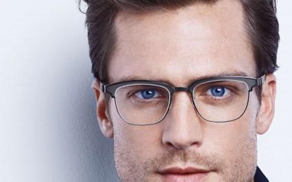 Männliches Fotomodell mit Brille von Lindberg
